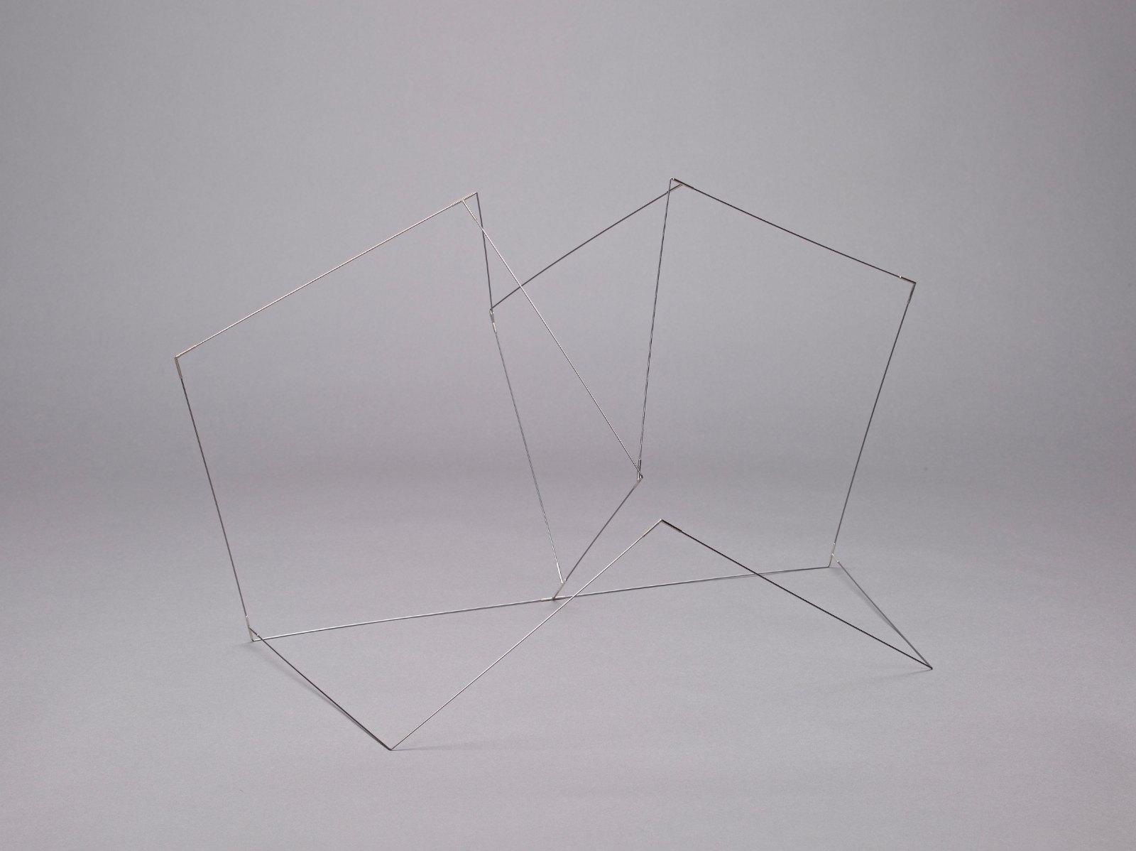 Sculpture VI, 2006, steel, silver, 35.5 x 62 x 37 cm