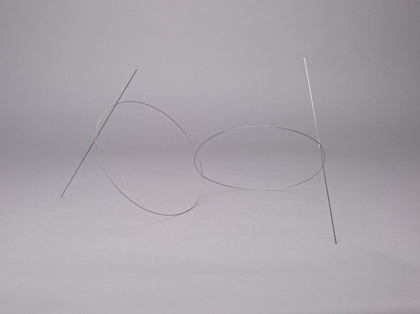 Sculpture VIII, 2006, steel, silver, 32 x 70 x 35 cm
