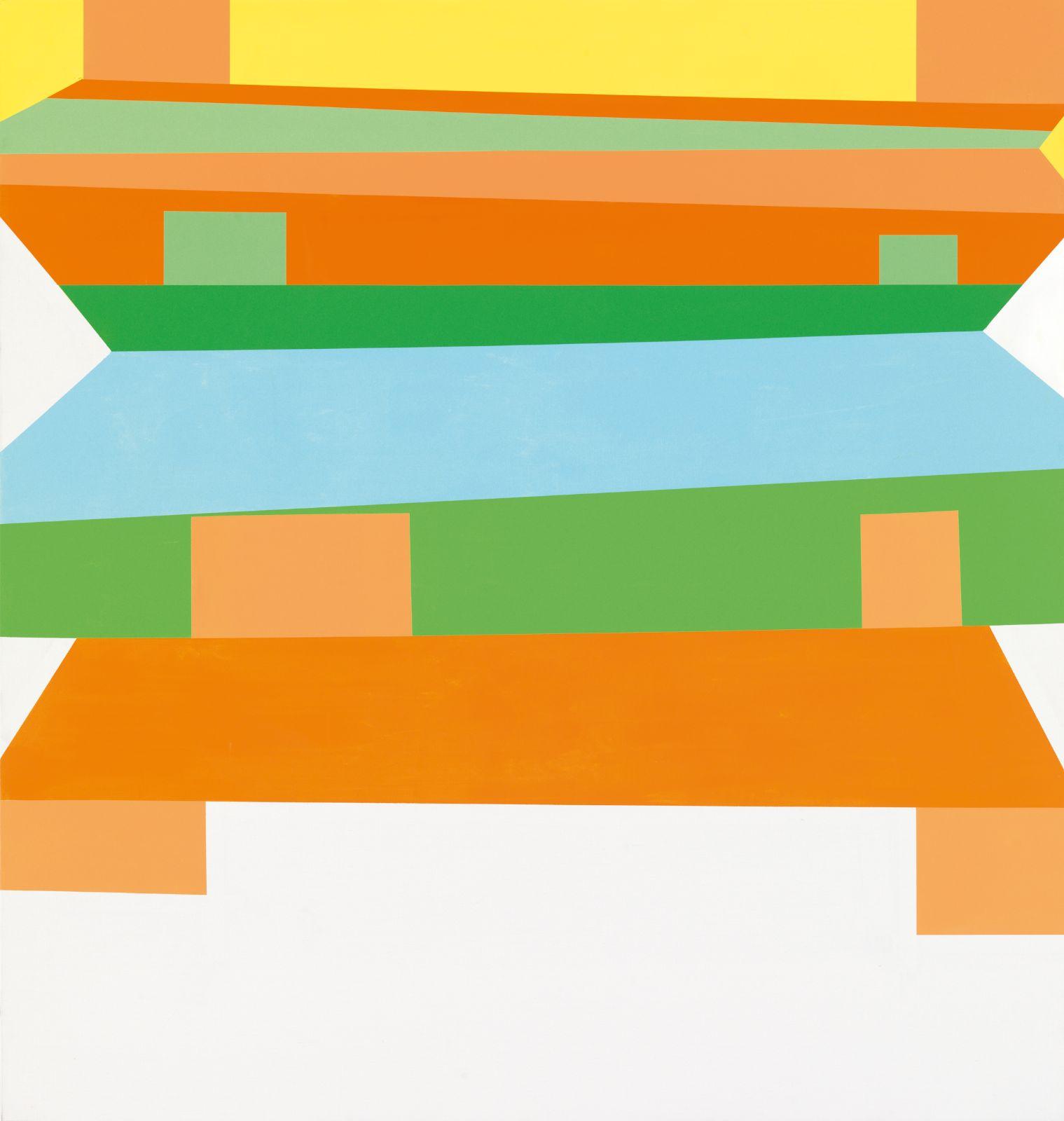 Panorama/Preface, 2008-09, acrylic on canvas, 195 x 185 cm