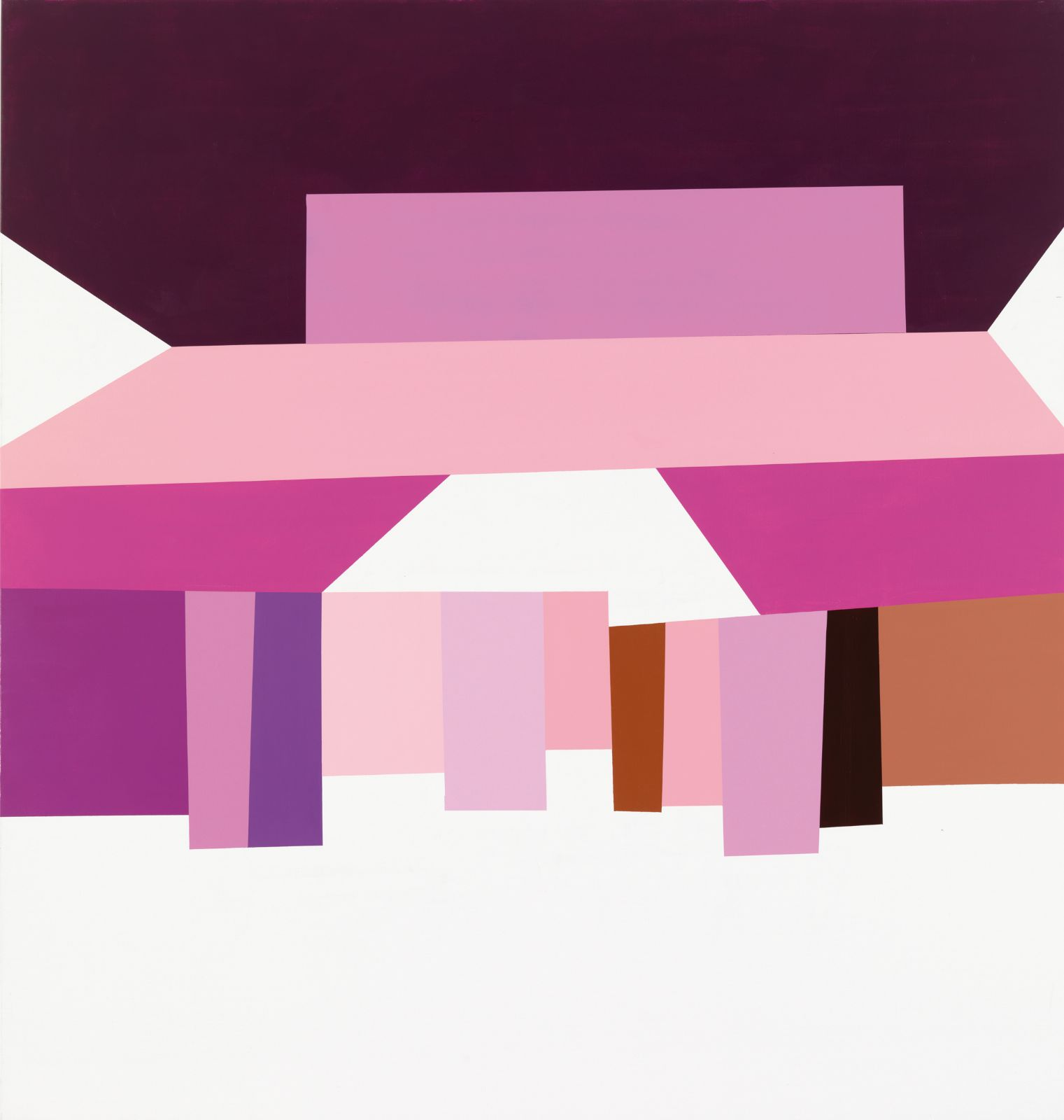 Panorama/Recognition, 2008-09, acrylic on canvas,195 x 185 cm