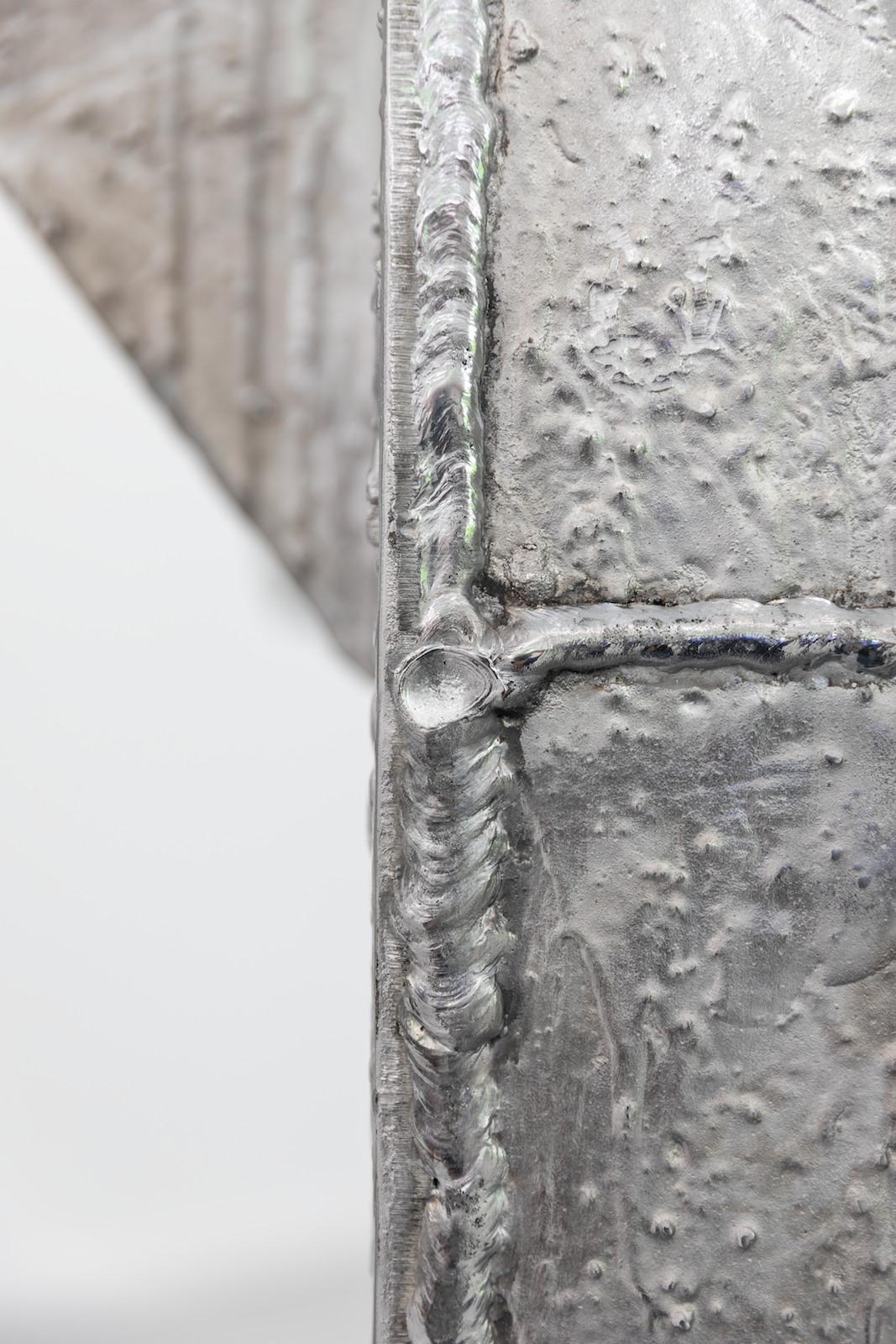 Tripod Amplifier, 2018, Cast recycled aluminum, 262 x 131 x 158 cm, Unique, detail