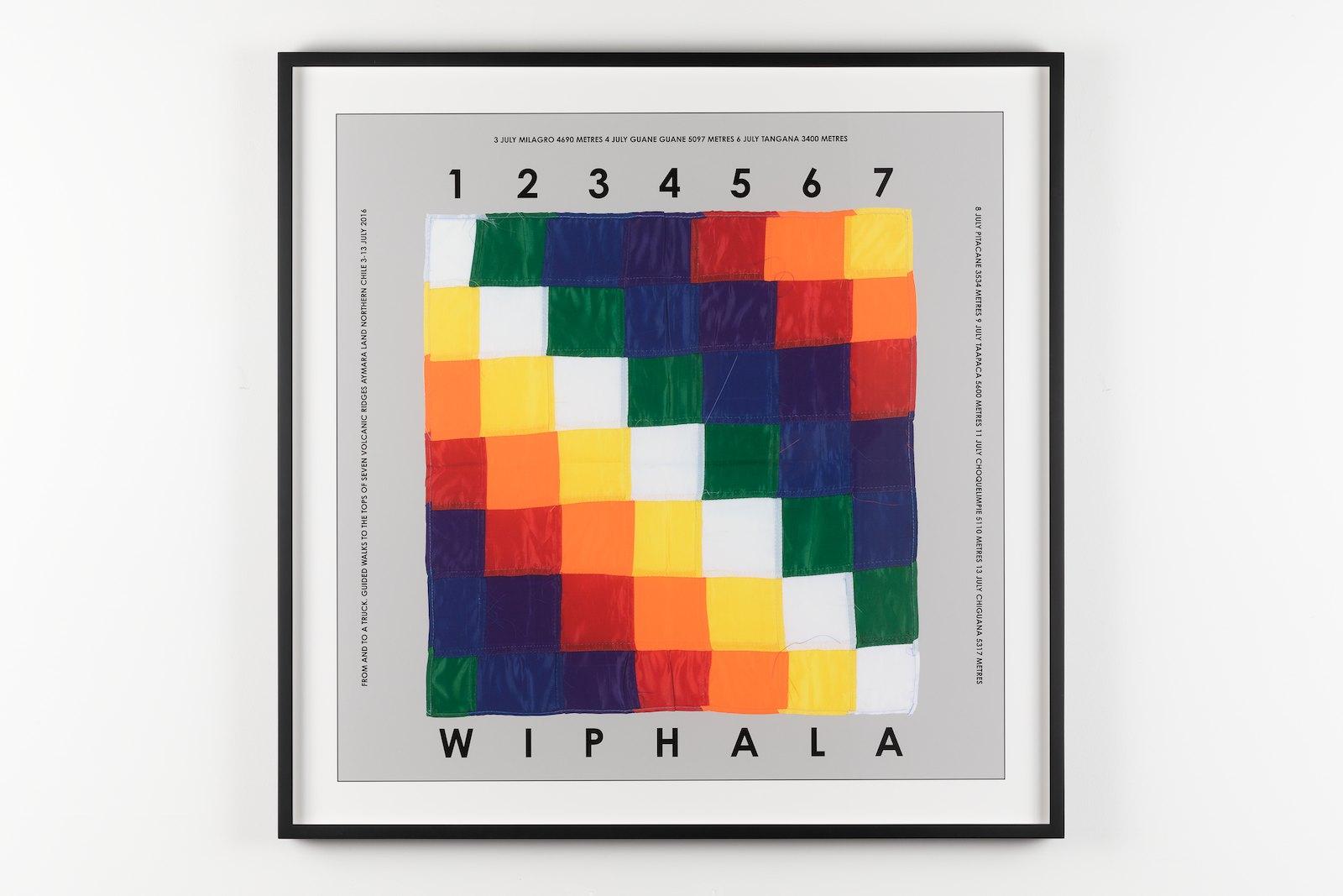 Whiphala, Chile 2016. Archival inkjet print, 79,5 x 79,5 cm. Ed. 3/50