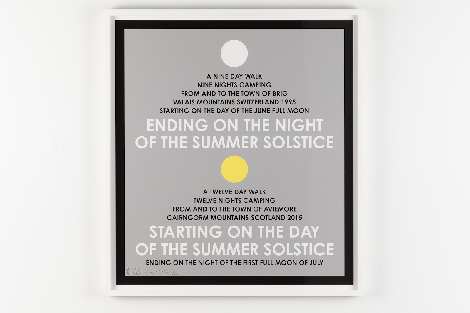 Summer Solstice, Switzerland 1995 and Scotland 2015. Archival inkjet print, 70 x 63 cm, Ed. 3/50