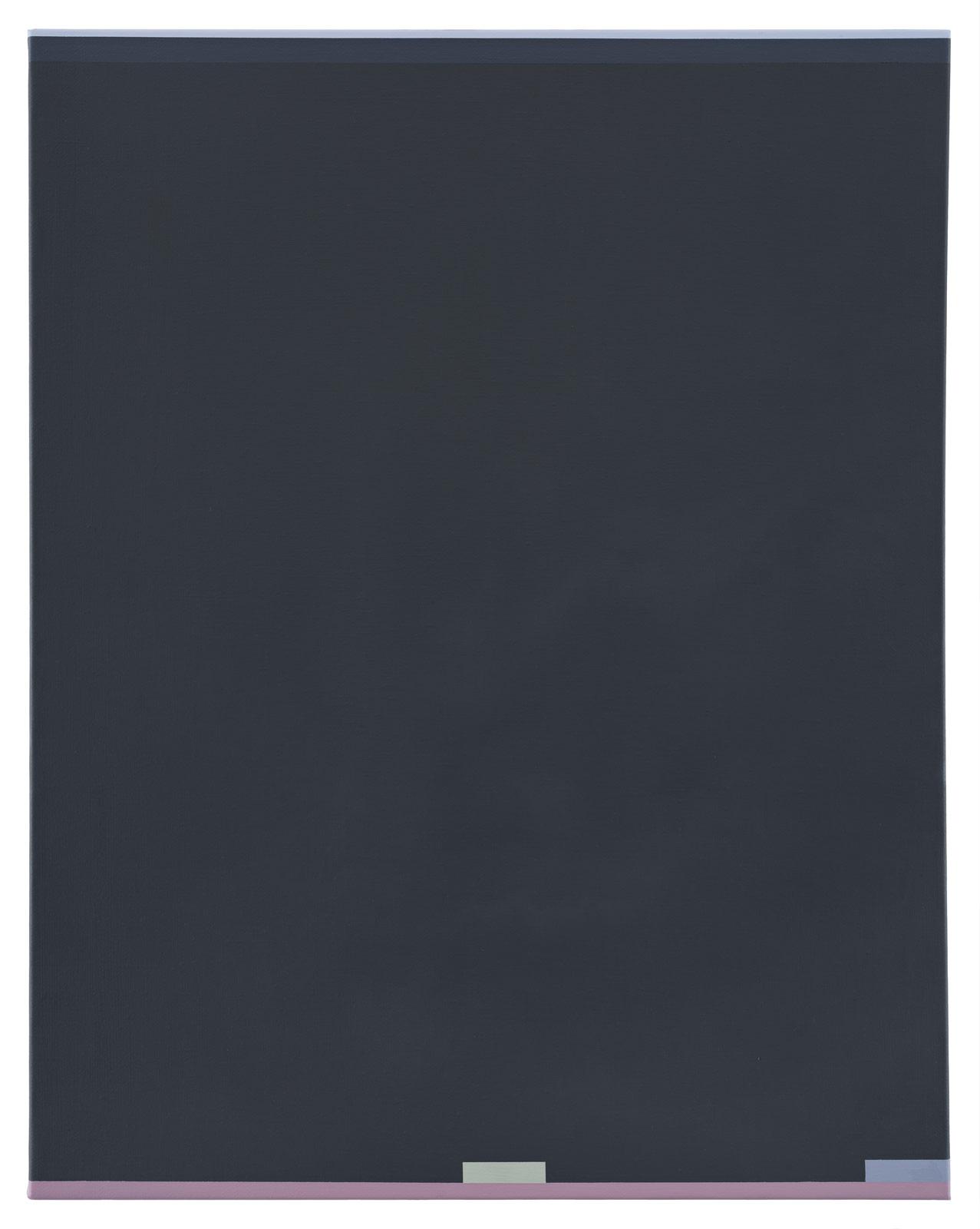 De mörka timmarna, 2018. Oil on canvas, 70 x 55 x 1,5 cm