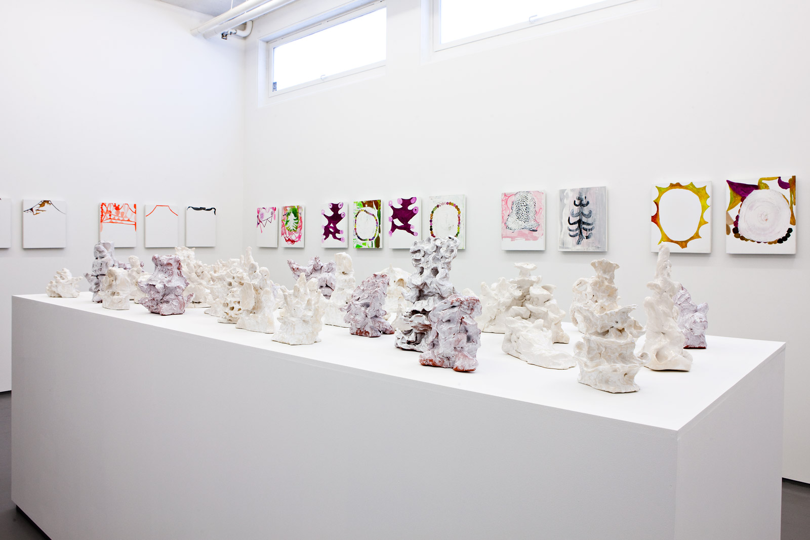 Installation view Galleri Riis, 2010, Rigoletto/3 Generations, 2007-09, glazed ceramics, different sizes up to ca 50 cm