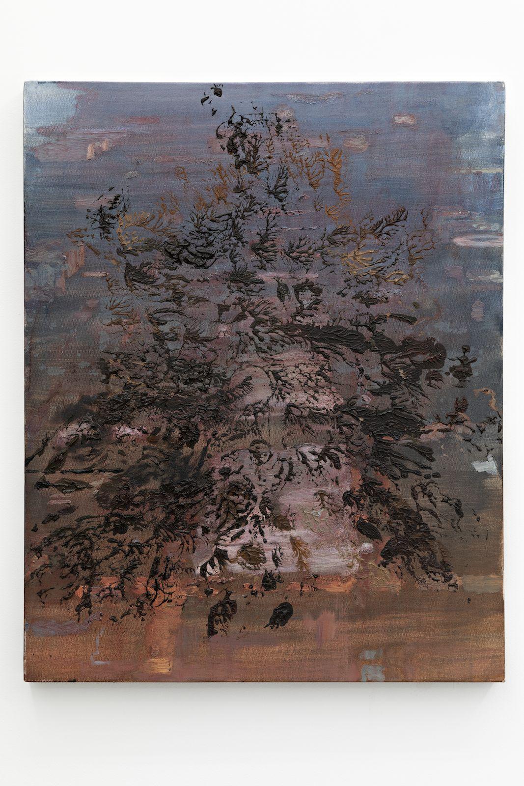 Zeroandones III, 2018. Oil on canvas, 76 x 61 cm