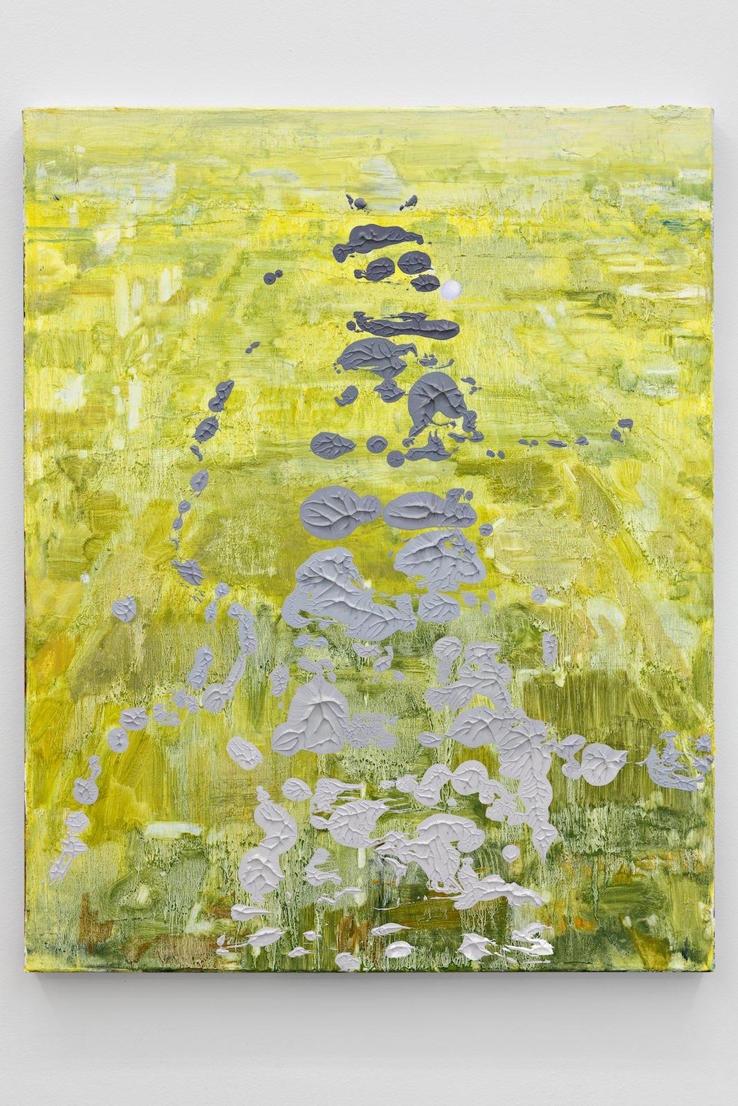 Zeroandones VI, 2018. Oil on canvas, 76 x 61 cm