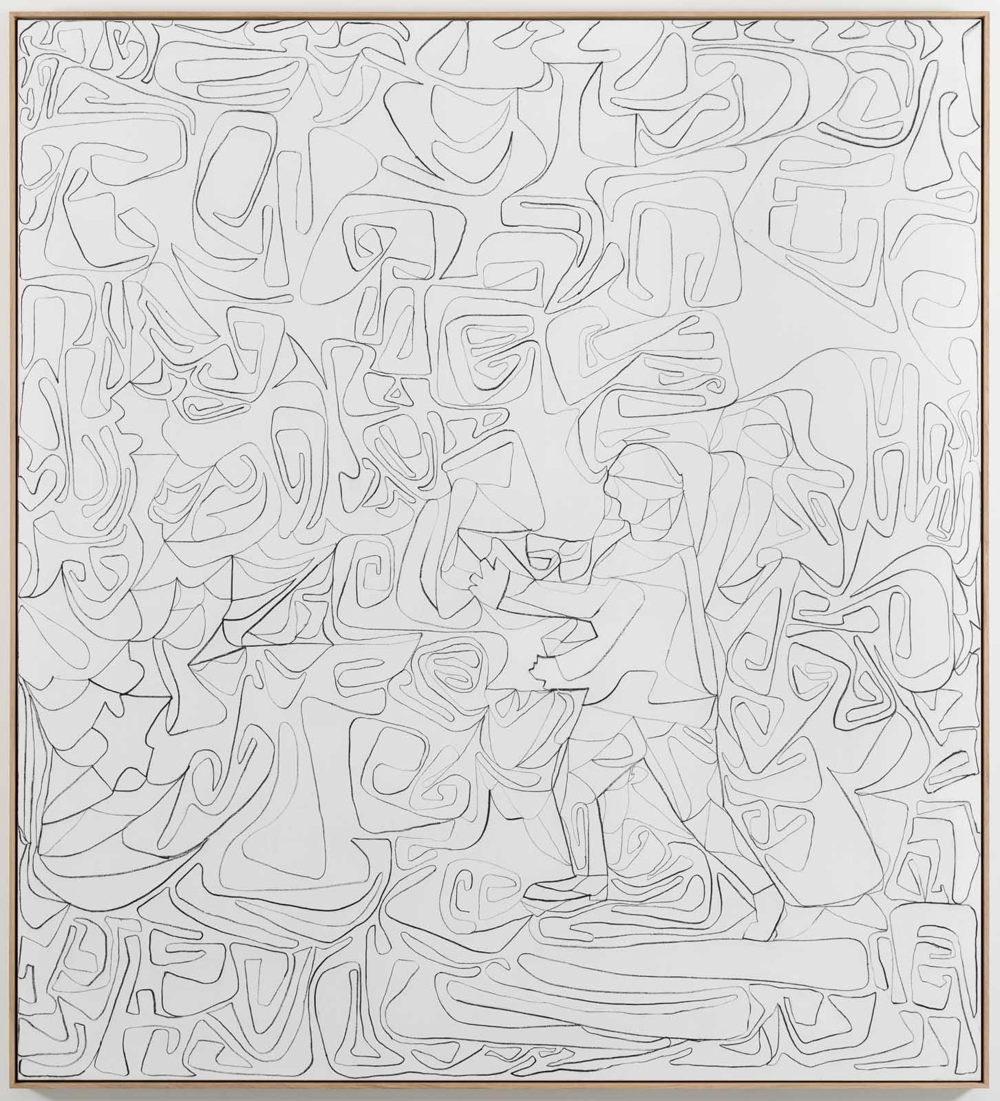 The Inventarium Drawing No. 04, 2019. Charcoal on canvas, 220 x 200 cm