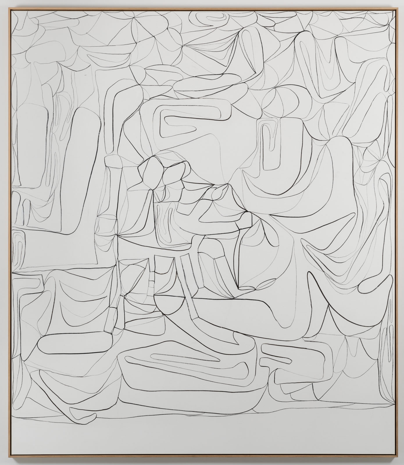 The Inventarium Drawing No. 03, 2018. Charcoal on canvas, 243 x 210 cm