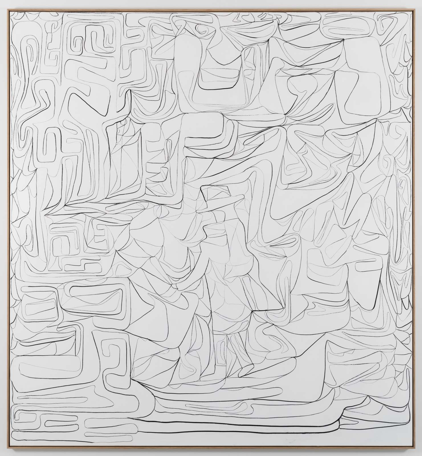 The Inventarium Drawing No. 01, 2018. Charcoal on canvas, 275 x 255 cm