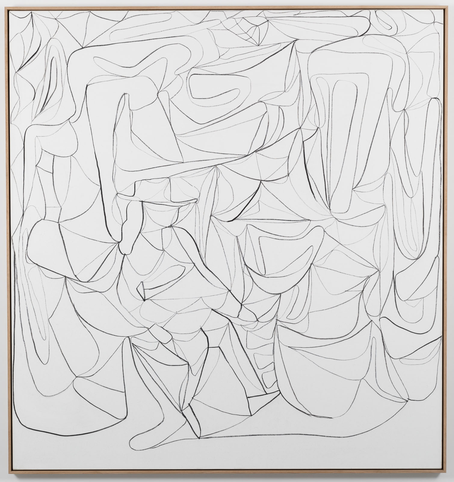 The Inventarium Drawing No. 02, 2018. Charcoal on canvas, 190 x 170 cm