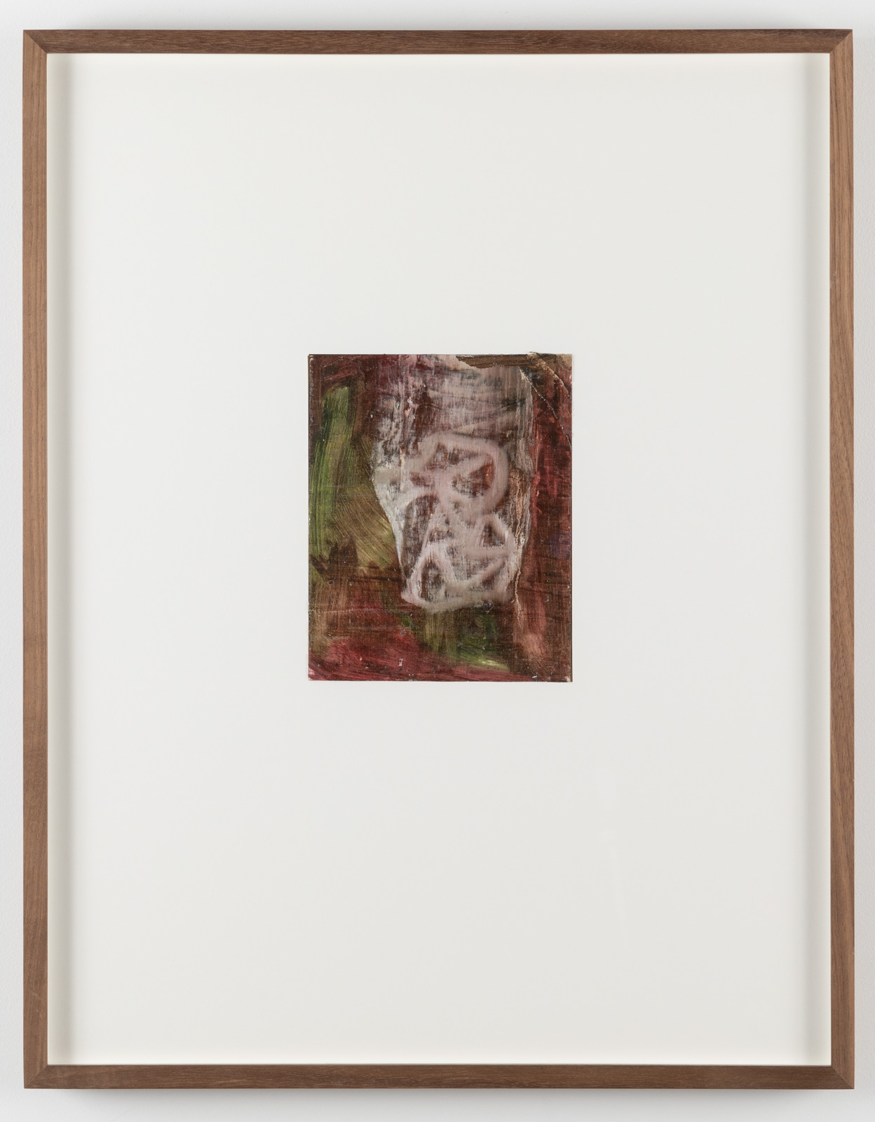 The Very Small Rubicon Paintings No. 04, 2019. Oil on panel in artist's frame, 17,5 x 13,5 cm, overall 65 x 51 x 4 cm