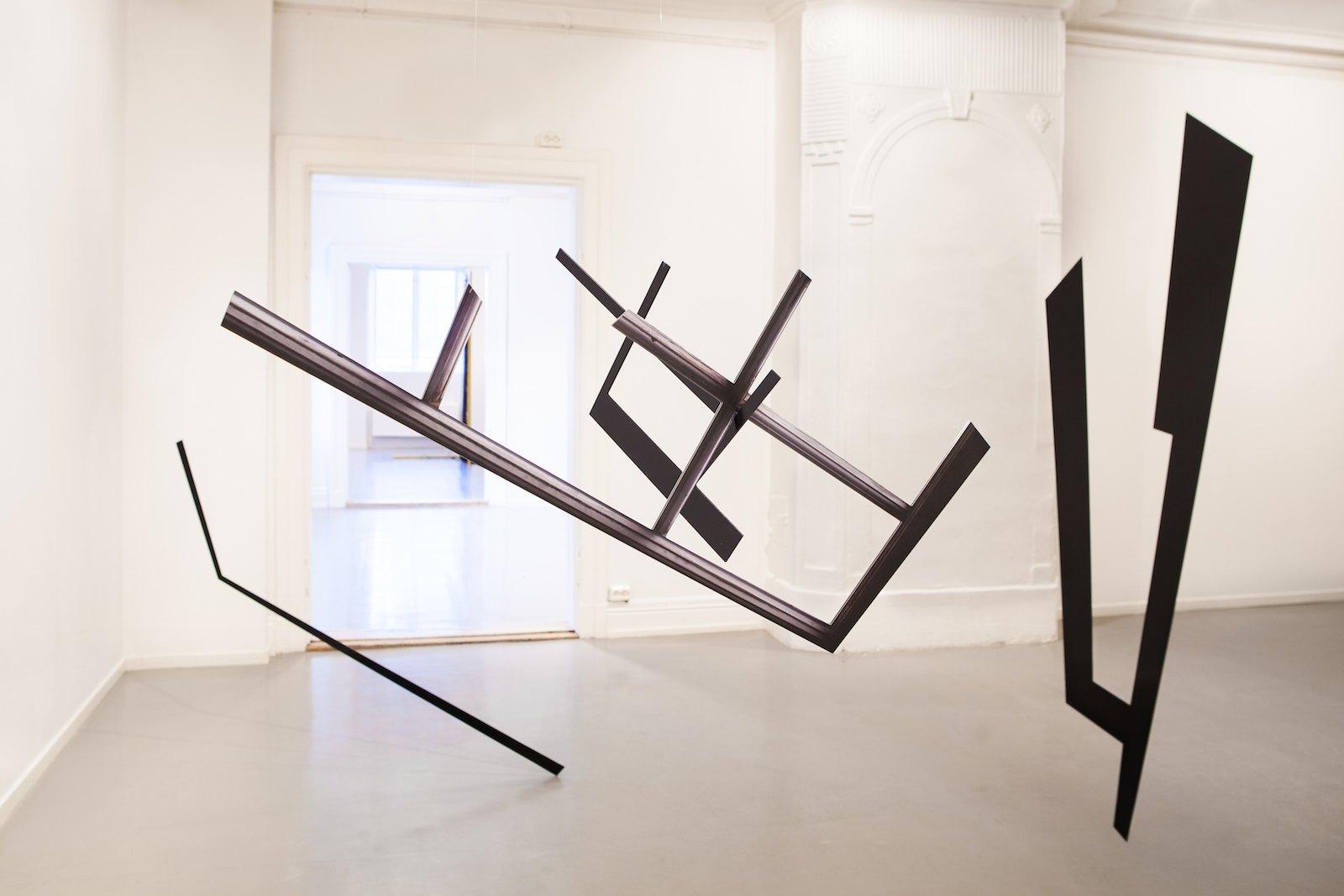 Installation view Marie Buskov 'Second Presence (Leaning, Lying, Hanging, Standing)', Oslo Kunstforening, 2012. Photo: Ellen Jarli