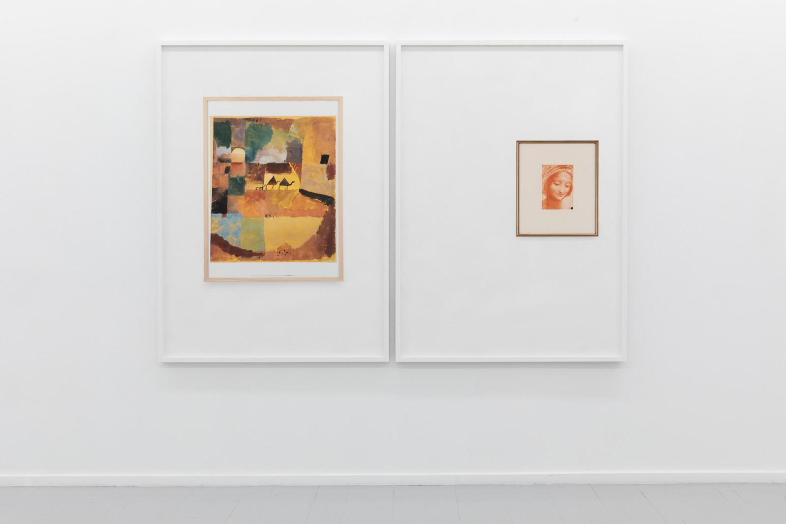 Waiting Room of a Psychologist (Paul Klee, With Two Dromedaries and One Donkey, 1914/19), 2019Pigment print on acid free cotton paper in artist's frame, 144 x 104 x 4 cm. Ed. 5 + 1 APWaiting Room of a Psychologist (Leonardo da Vinci, Study for the face of Saint Anne, 1500), 2019Pigment print on acid free cotton paper in artist's frame, 144 x 104 x 4 cm. Ed. 5 + 1 AP
