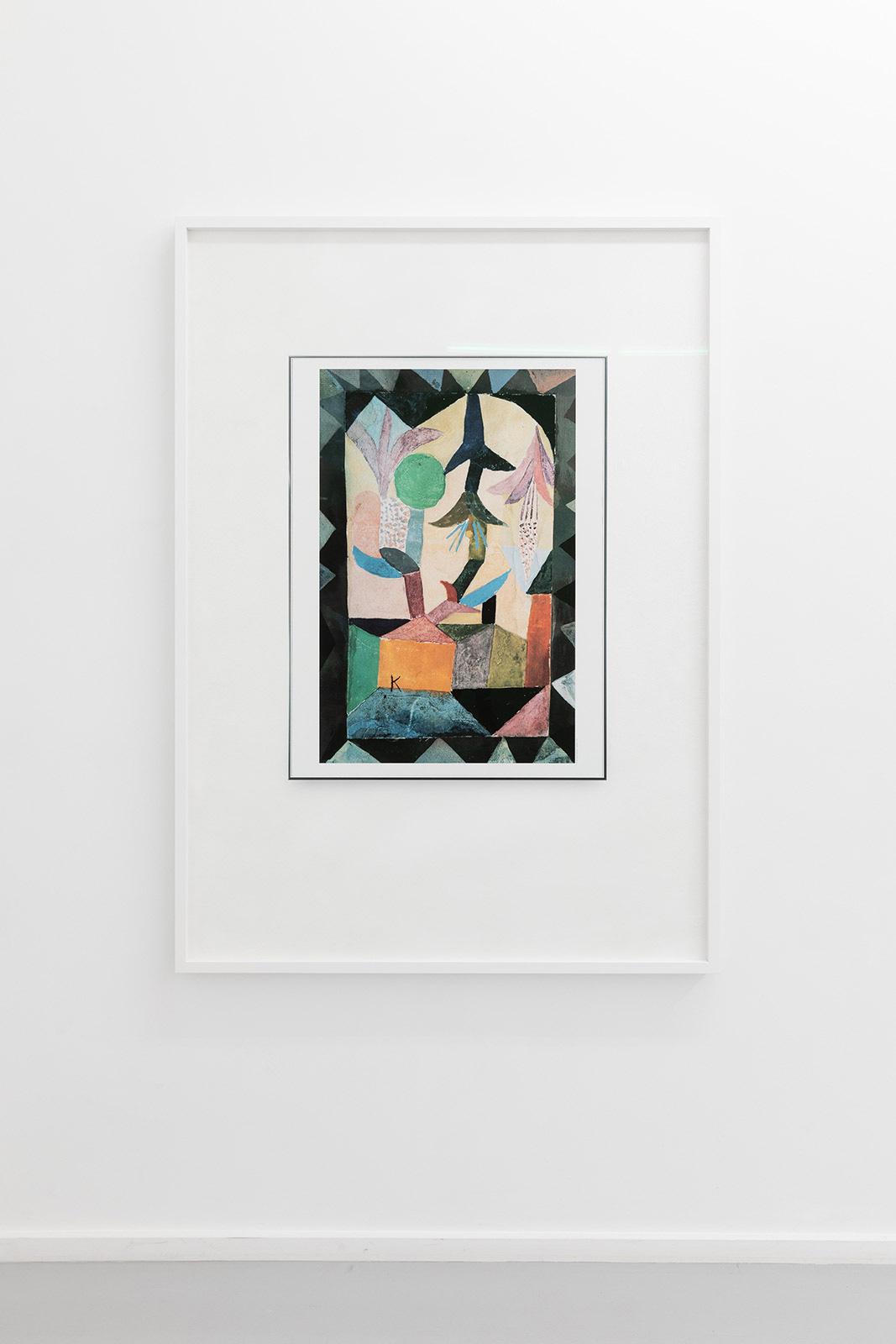Waiting Room of a Psychologist (Paul Klee, Himmelsblüten über dem gelben Haus, 1917), 2019. Pigment print on acid free cotton paper in artist's frame, 144 x 104 x 4 cm. Ed. 5 + 1 AP