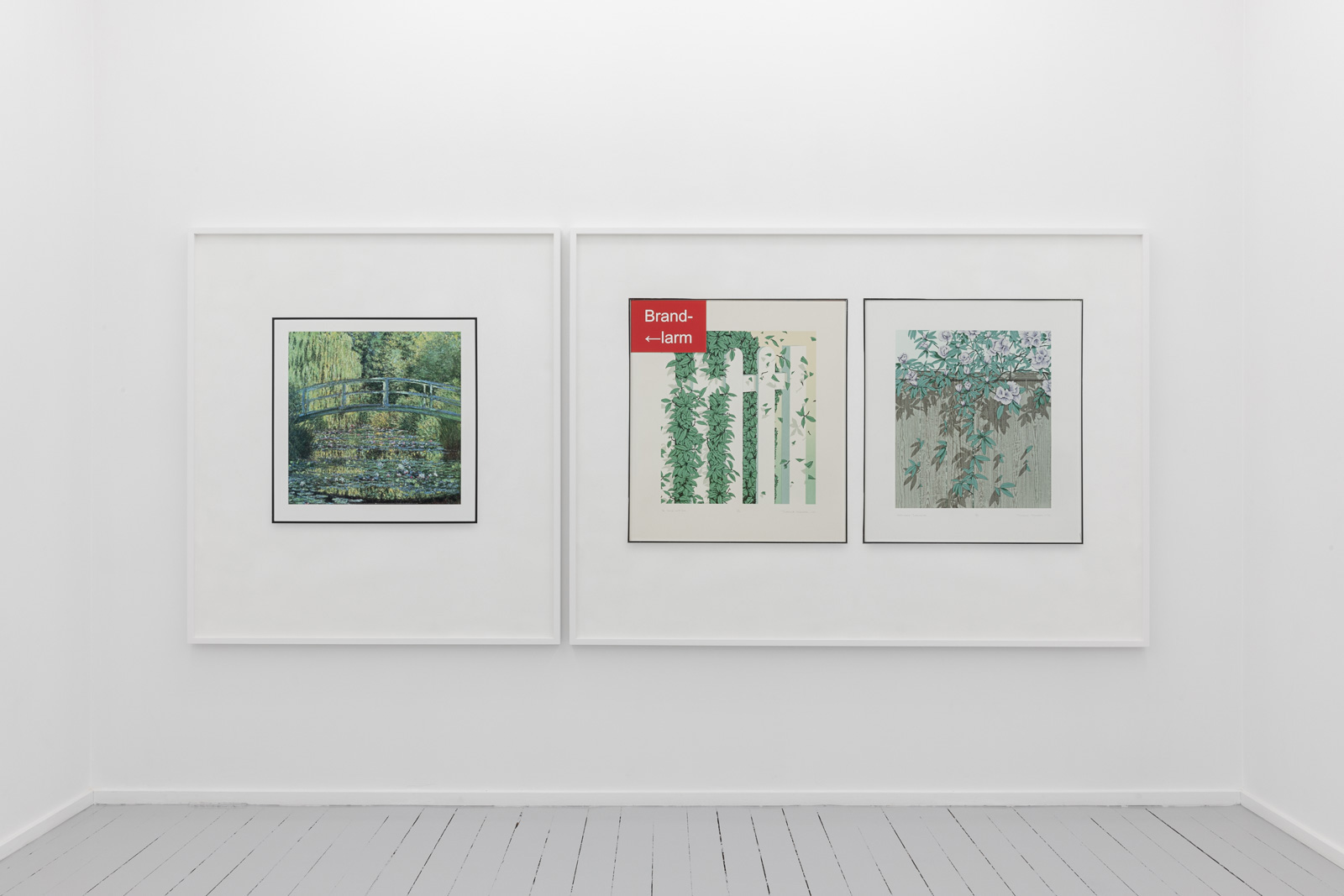 Waiting Room of a Neurologist (Claude Monet, The Water Lily Pond: Green Harmony, 1899), 2019Pigment print on acid free cotton paper in artist's frame, 144 x 129 x 4 cm. Ed. 5 + 1 APWaiting Room of a Neurologist, (Terence Warren, Welcome Intrusion and A Snip In Time, 1979), 2019Pigment print on acid free cotton paper in artist's frame, 144 x 199 x 4 cm. Ed. 5 + 1 AP